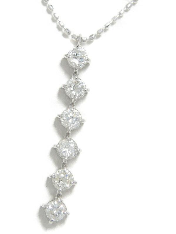 【仕上済】セレクトジュエリー『K18WGネックレス ダイヤモンド0.50ct』1週間保証【中古】