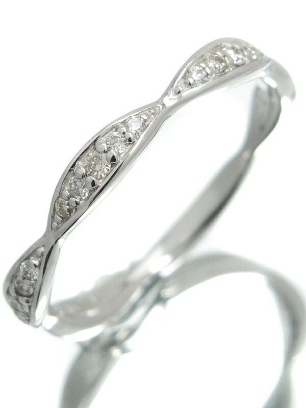 【仕上済】セレクトジュエリー『PT900リング ダイヤモンド0.12ct』12号 1週間保証【中古】