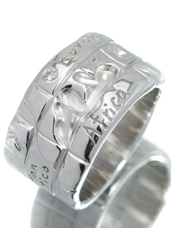 【Ponte Vecchio】ポンテヴェキオ『K18WGリング ダイヤモンド0.03ct』12.5号 1週間保証【中古】
