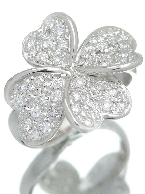 【四つ葉】【仕上済】セレクトジュエリー『PT900リング ダイヤモンド0.58ct クローバーモチーフ』10.5号 1週間保証【中古】
