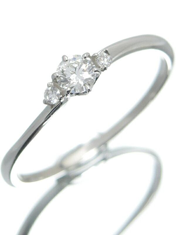 【仕上済】セレクトジュエリー『PT950リング ダイヤモンド0.156ct 0.02ct』13号 1週間保証【中古】