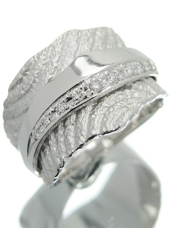 【仕上済】セレクトジュエリー『K18WGリング ダイヤモンド0.14ct』13号 1週間保証【中古】