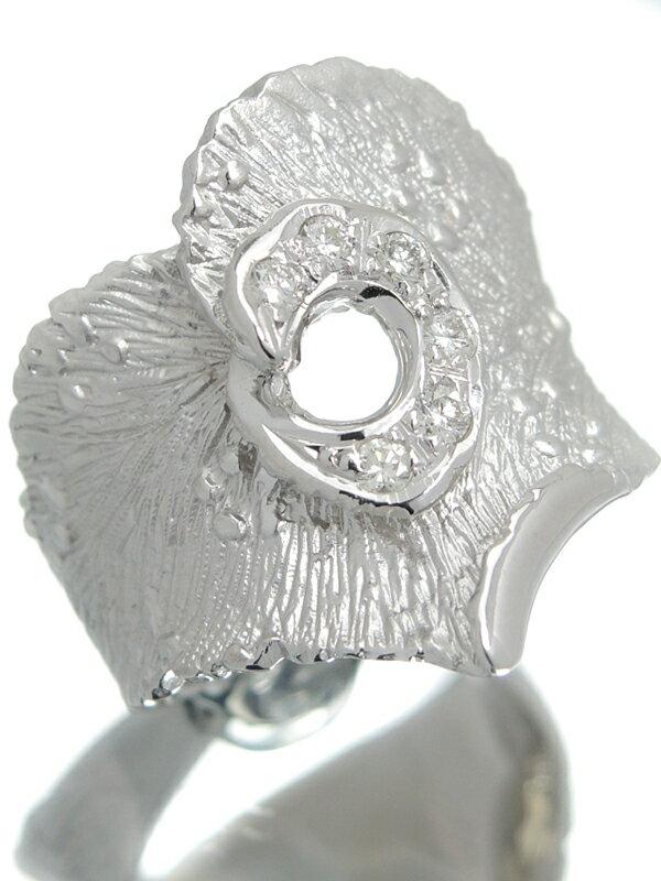 【仕上済】セレクトジュエリー『K18WGリング ダイヤモンド0.17ct』14号 1週間保証【中古】