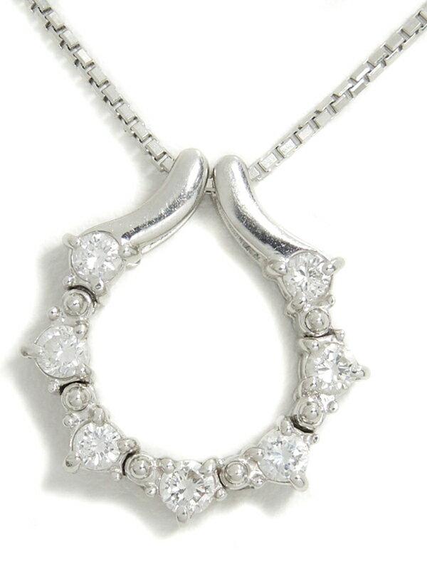 セレクトジュエリー『PT900/PT850ネックレス ダイヤモンド0.40ct』1週間保証【中古】