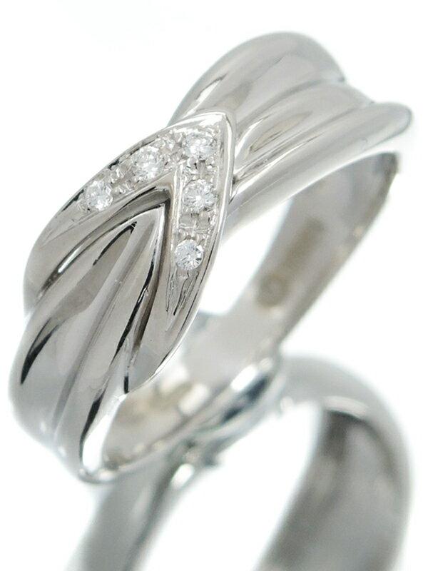 【DAMIANI】【仕上済】ダミアーニ『K18WGリング ダイヤモンド』10号 1週間保証【中古】