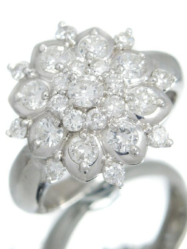セレクトジュエリー『PT900リング ダイヤモンド1.04ct フラワーモチーフ』8.5号 1週間保証【中古】