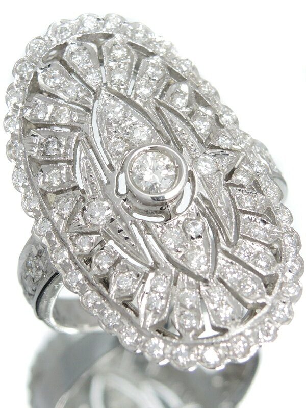 【仕上済】セレクトジュエリー『K18WGリング ダイヤモンド』13.5号 1週間保証【中古】