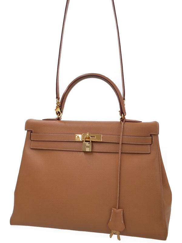 【HERMES】【ゴールド金具】エルメス『ケリー35 内縫い』A刻印 1997年製 レディース 2WAYバッグ 1週間保証【中古】