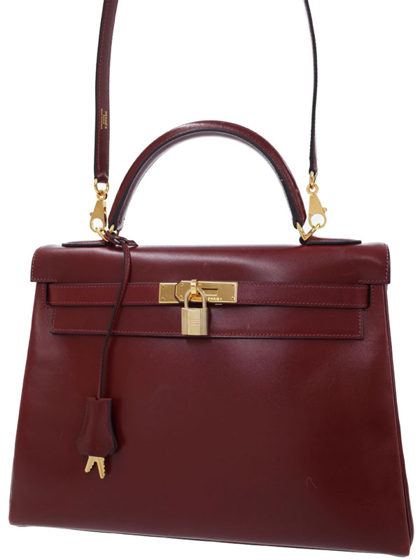 【HERMES】【ゴールド金具】エルメス『ケリー32 内縫い』G刻印 2003年製 レディース 2WAYバッグ 1週間保証【中古】