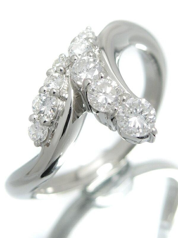 【仕上済】セレクトジュエリー『PT900リング ダイヤモンド0.52ct』10号 1週間保証【中古】