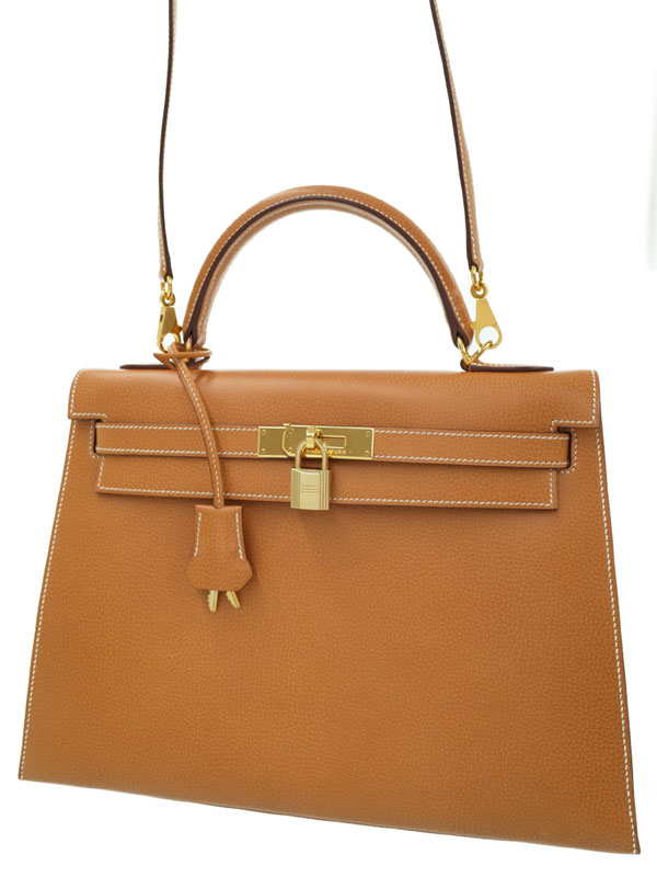 【HERMES】【ゴールド金具】エルメス『ケリー32 外縫い』G刻印 2003年製 レディース 2WAYバッグ 1週間保証【中古】