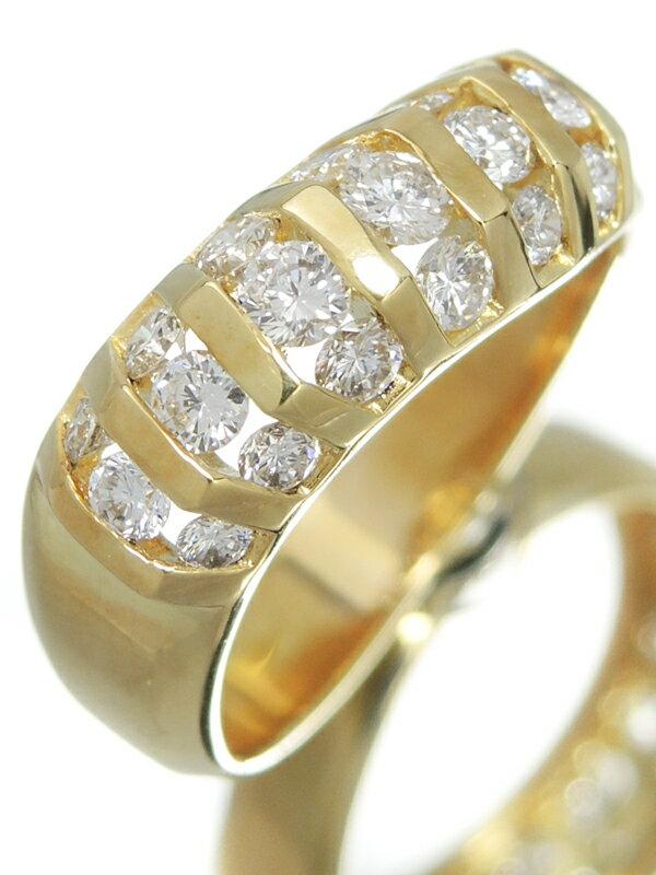 セレクトジュエリー『K18YGリング ダイヤモンド0.80ct』12号 1週間保証【中古】