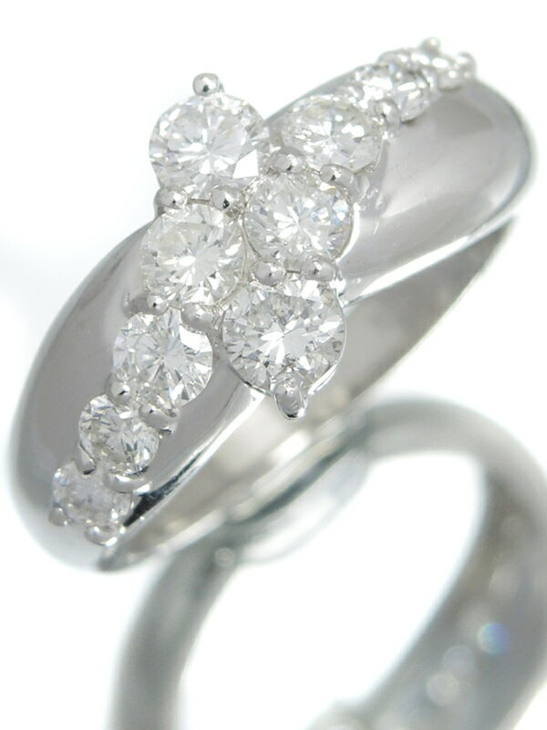 セレクトジュエリー『PT900リング ダイヤモンド1.01ct』9号 1週間保証【中古】