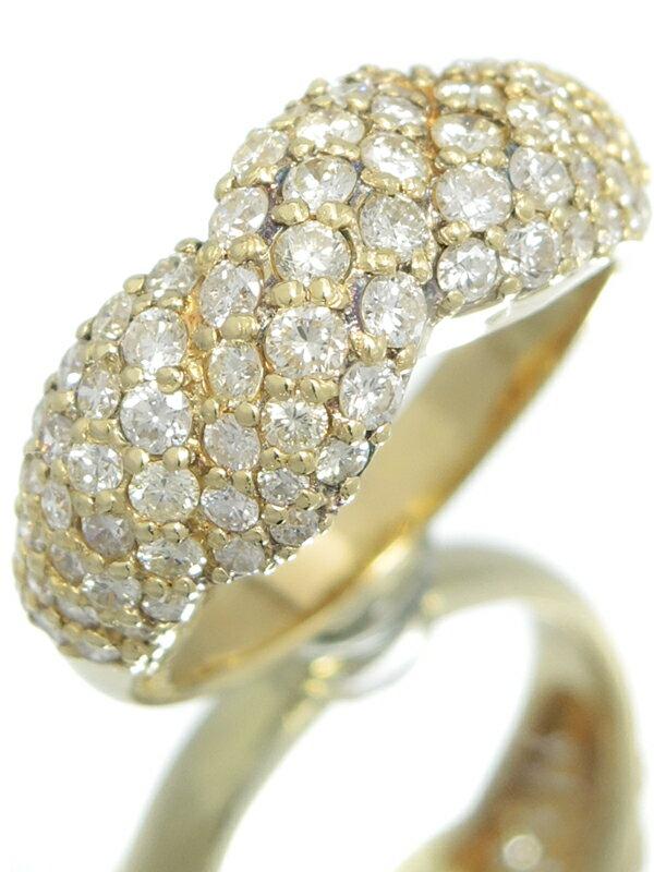 セレクトジュエリー『K18YGリング ダイヤモンド1.36ct』9.5号 1週間保証【中古】
