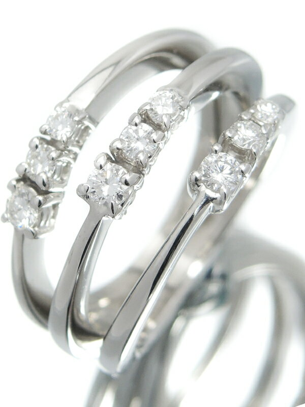 【DAMIANI】【仕上済】ダミアーニ『K18WGリング ダイヤモンド』13.5号 1週間保証【中古】