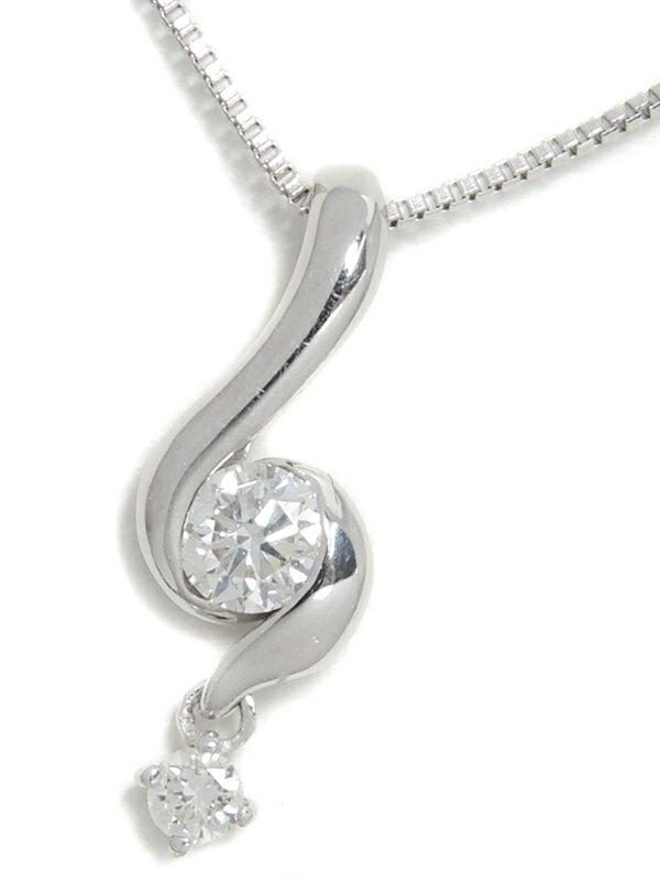 セレクトジュエリー『K18WGネックレス ダイヤモンド0.15ct』1週間保証【中古】