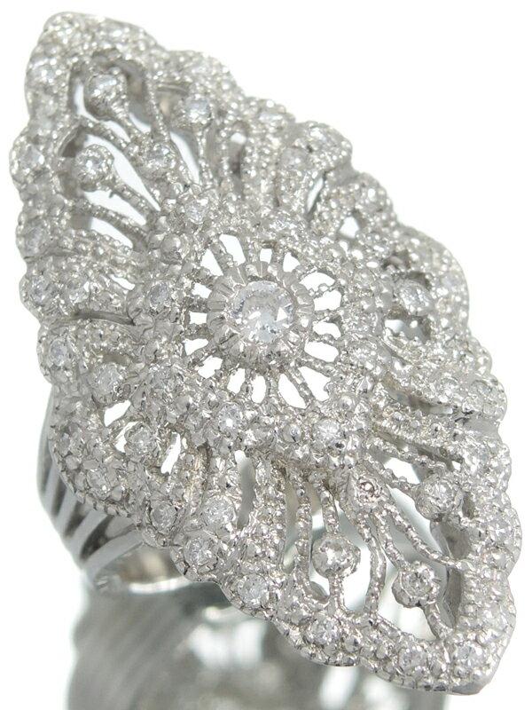 【仕上済】セレクトジュエリー『PT900リング ダイヤモンド0.50ct』11号 1週間保証【中古】