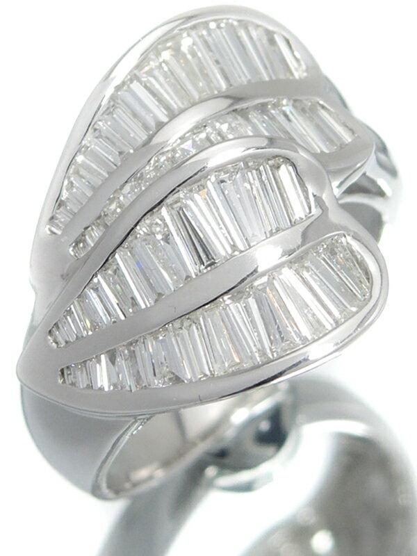 セレクトジュエリー『K18WGリング ダイヤモンド1.40ct』12号 1週間保証【中古】