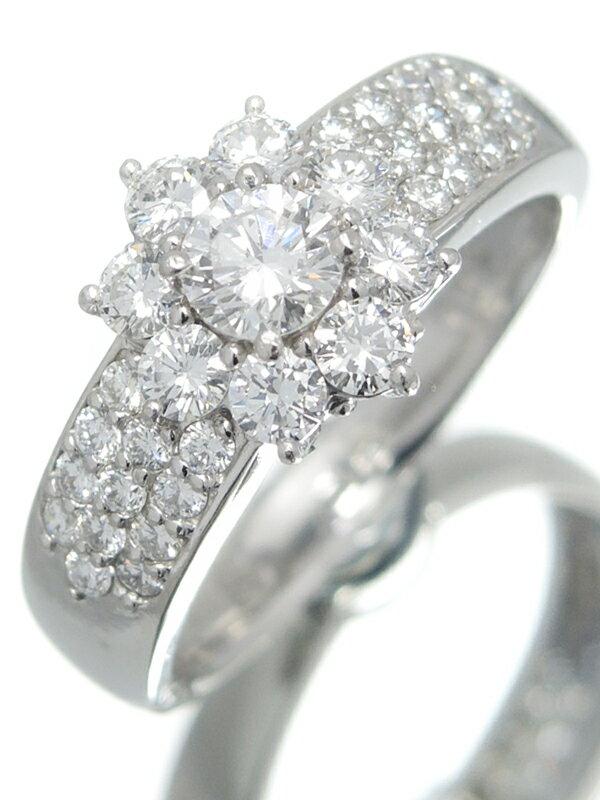 セレクトジュエリー『PT900リング ダイヤモンド1.02ct フラワーモチーフ』12号 1週間保証【中古】