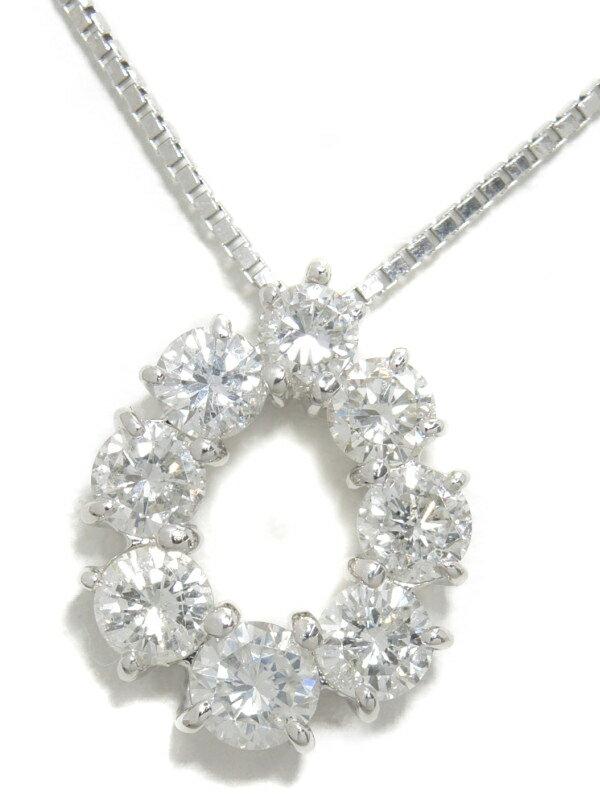 セレクトジュエリー『PT900/PT850ネックレス ダイヤモンド1.51ct ドロップモチーフ』1週間保証【中古】
