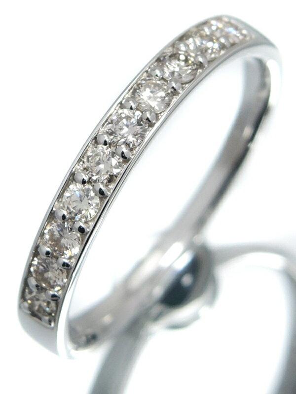 【仕上済】セレクトジュエリー『PT900リング ダイヤモンド0.30ct ハーフエタニティ』13号 1週間保証【中古】