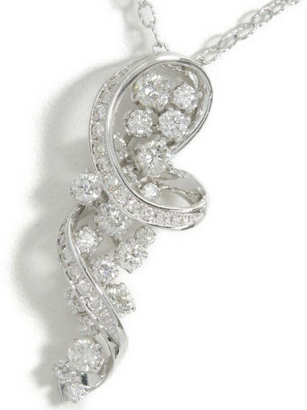 【仕上済】セレクトジュエリー『K18WGネックレス ダイヤモンド1.40ct』1週間保証【中古】