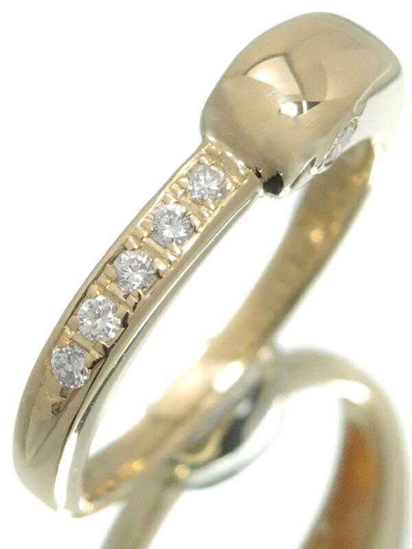 【CELINE】【仕上済】セリーヌ『K18YGリング ダイヤモンド0.17ct』12号 1週間保証【中古】