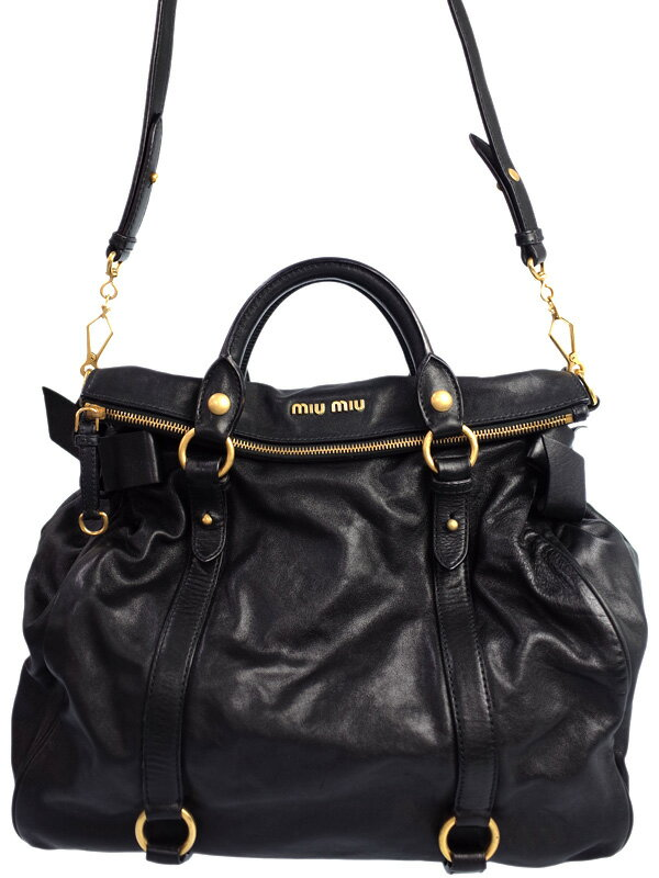 【MIU MIU】ミュウミュウ『2WAYハンドバッグ』レディース 2WAYバッグ 1週間保証【中古】