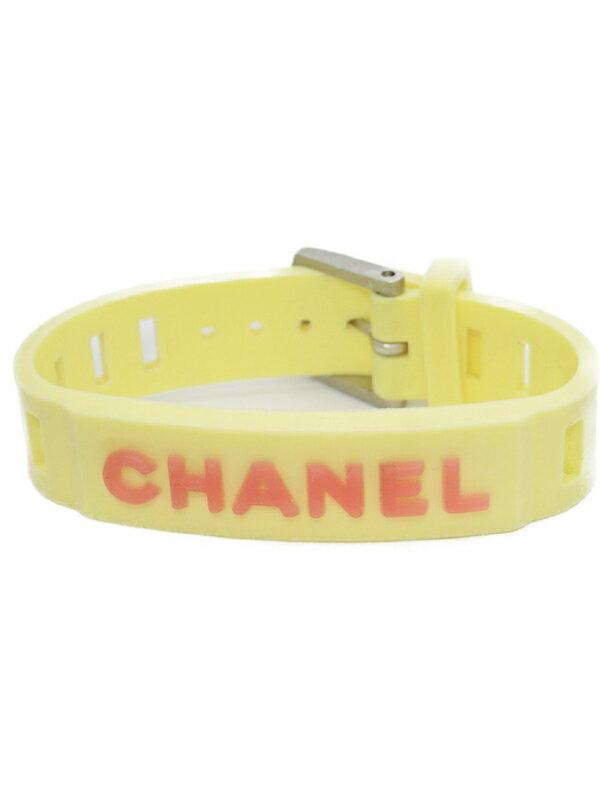 【CHANEL】シャネル『1999年 ロゴ入り ラバーブレスレット』A12633 1週間保証【中古】