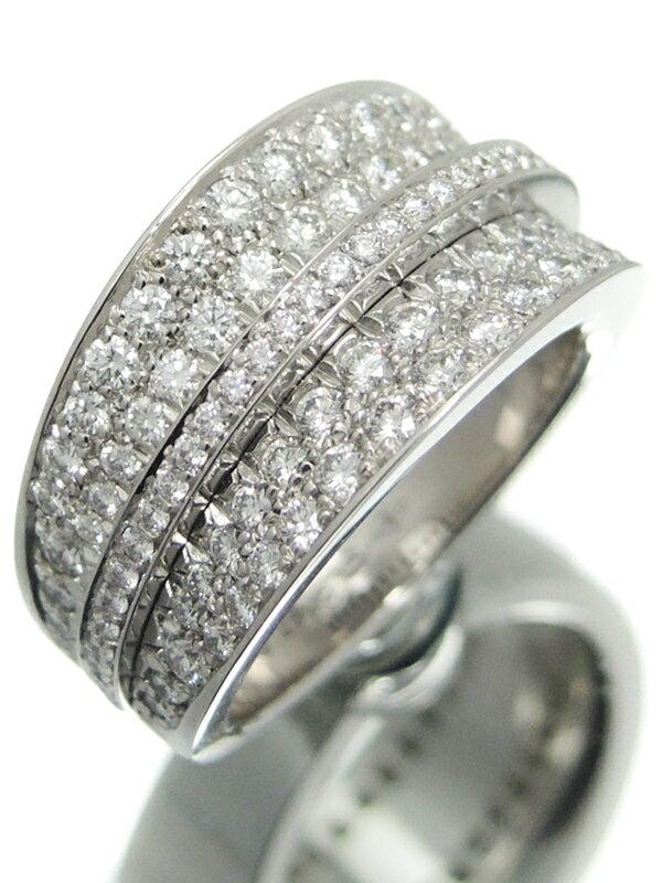 【Cartier】【メーカー仕上済】カルティエ『K18WGリング ダイヤモンド』8号 1週間保証【中古】
