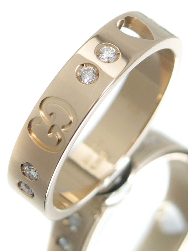 【GUCCI】グッチ『アイコン アモール リング 10Pダイヤモンド』8.5号 1週間保証【中古】