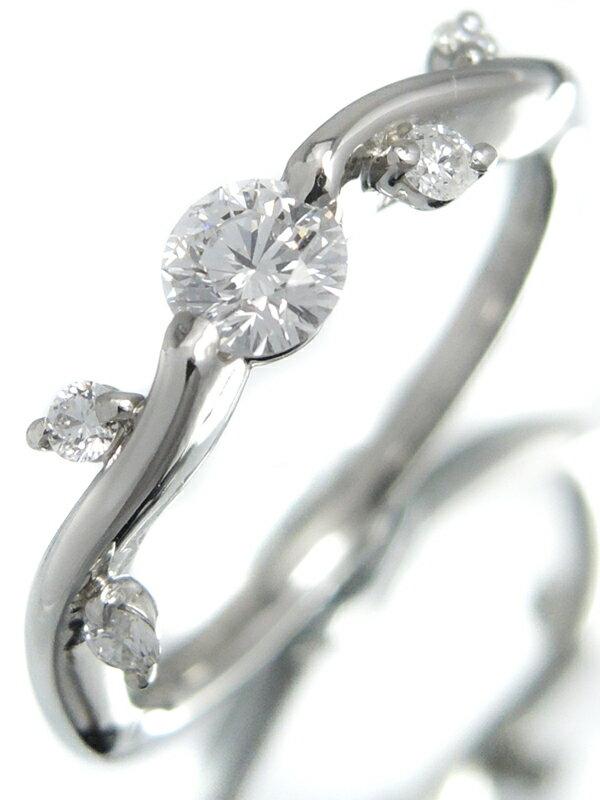 【星の砂】【仕上済】ホシノスナ『PT900リング ダイヤモンド0.34ct』10号 1週間保証【中古】
