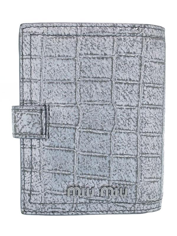【MIUMIU】ミュウミュウ『二つ折り短財布』5MV016 レディース 1週間保証【中古】