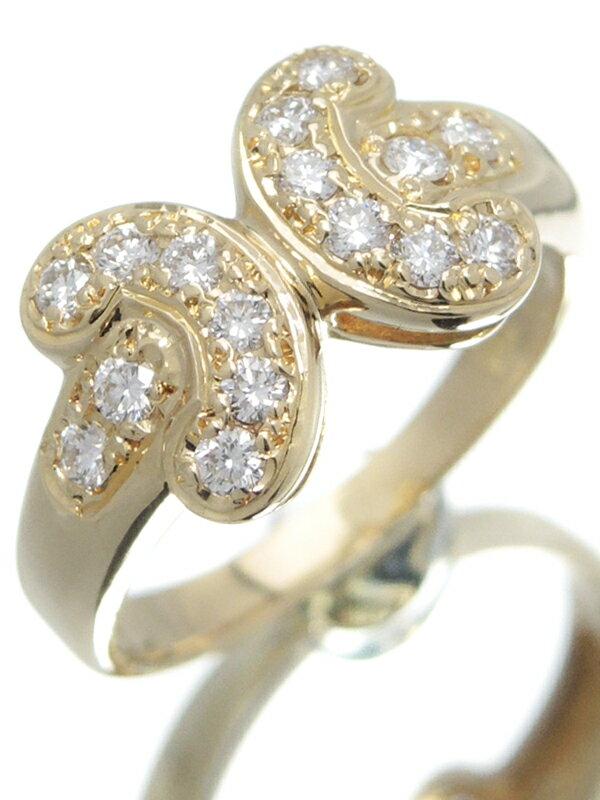 【CELINE】セリーヌ『K18YGリング ダイヤモンド0.32ct』8.5号 1週間保証【中古】