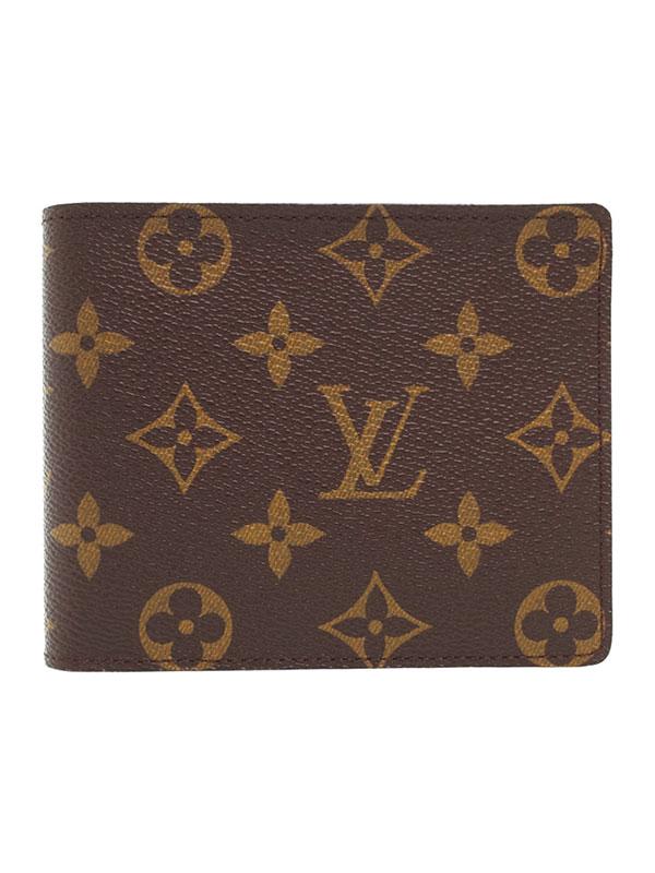 【LOUIS VUITTON】ルイヴィトン『モノグラム ポルトフォイユ フロリン』M60026 メンズ 二つ折り短財布 1週間保証【中古】