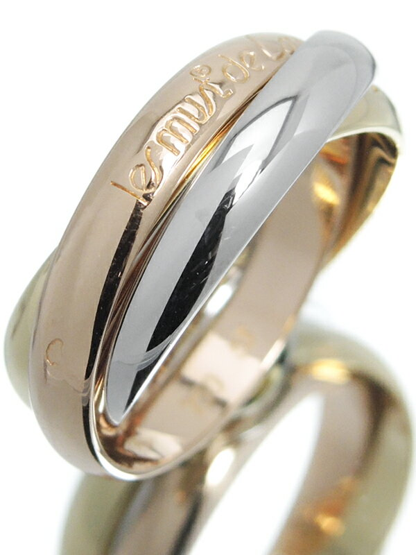 【Cartier】【スリーカラーゴールド】カルティエ『K18YG/K18PG/K18WG トリニティ リング』13号 1週間保証【中古】