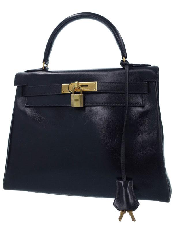 【HERMES】【ゴールド金具】エルメス『ケリー28 内縫い』N刻印 1984年製 レディース ハンドバッグ 1週間保証【中古】