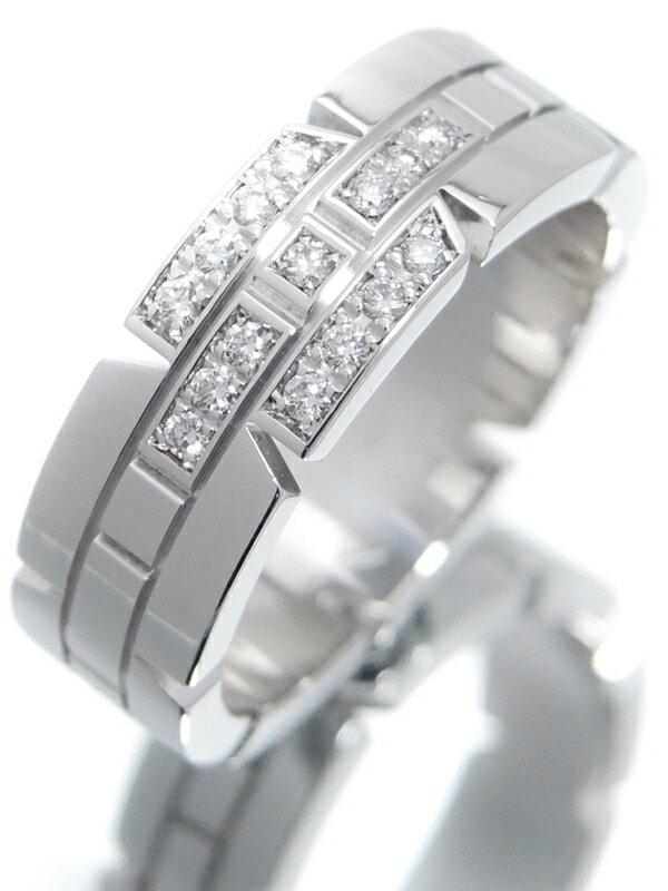 【Cartier】【仕上済】カルティエ『K18WG タンクフランセーズ リング ダイヤモンド』12号 1週間保証【中古】