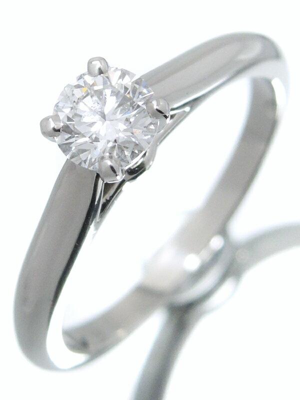 【Cartier】【MKコーフィル】【鑑定書】【仕上済】カルティエ『1895 ソリテール リング PT950 1Pダイヤモンド0.39ct/E/VVS2/EXCELLENT』9号 1週間保証【中古】