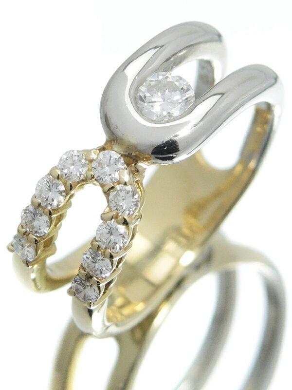 【星の砂】ホシノスナ『K18YG/PT900リング ダイヤモンド0.50ct』13号 1週間保証【中古】