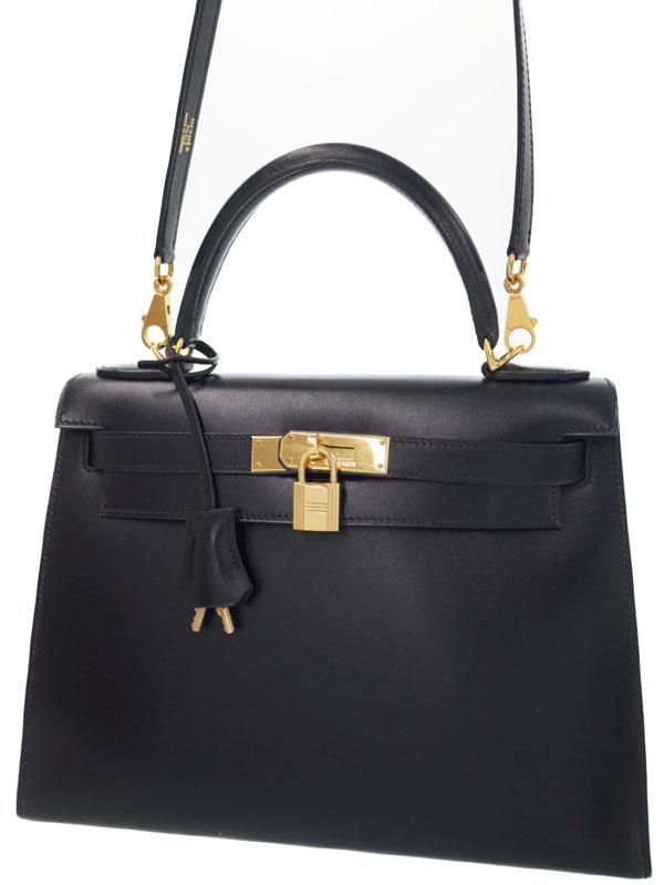 【HERMES】【ゴールド金具】エルメス『ケリー28 外縫い』D刻印 2000年製 レディース 2WAYバッグ 1週間保証【中古】