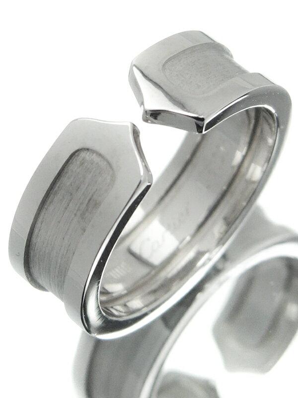 【Cartier】カルティエ『K18WG ロゴ ドゥーブルC C2リング』10号 1週間保証【中古】