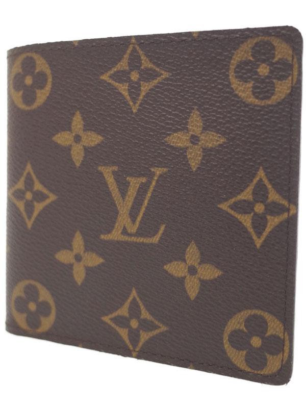 【LOUIS VUITTON】ルイヴィトン『モノグラム ポルトフォイユ マルコ』M61665 ユニセックス 二つ折り短財布 1週間保証【中古】