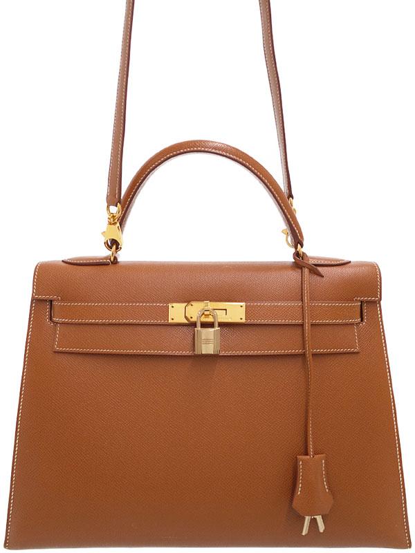 【HERMES】【ゴールド金具】エルメス『ケリー32 外縫い』B刻印 1998年製 レディース 2WAYバッグ 1週間保証【中古】
