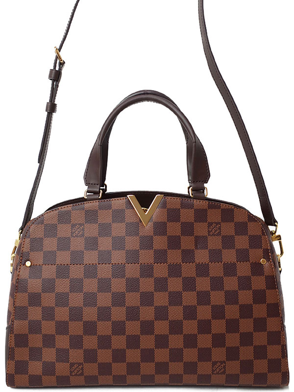 【LOUIS VUITTON】ルイヴィトン『ダミエ ケンジントン ボーリング』N41505 レディース 2WAYバッグ 1週間保証【中古】