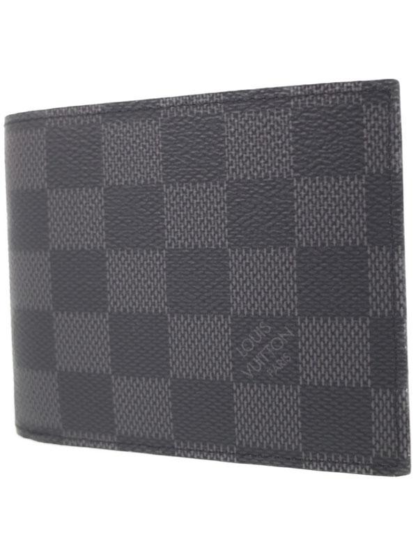 【LOUIS VUITTON】ルイヴィトン『ダミエ グラフィット ポルトフォイユ アメリゴ NW』N60053 メンズ 二つ折り短財布 1週間保証【中古】