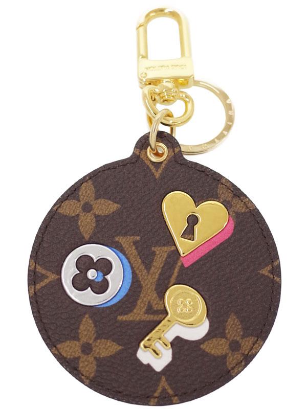 【Louis Vuitton】ルイヴィトン『モノグラム ポルトクレ ラブ ロック』M67436 レディース バッグチャーム 1週間保証【中古】