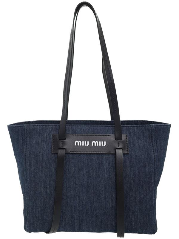 【miu miu】ミュウミュウ『デニム トートバッグ』5BG145 レディース 1週間保証【中古】