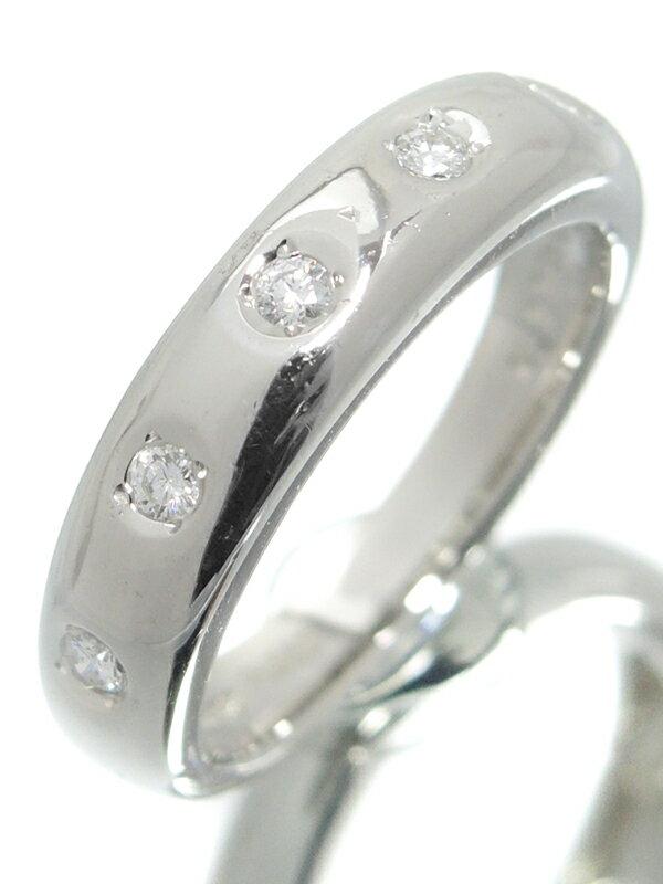 【MIKIMOTO】ミキモト『PT950リング 5Pダイヤモンド0.11ct』10号 1週間保証【中古】