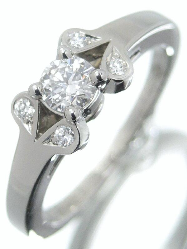【Cartier】【BALLERINE】カルティエ『PT950 バレリーナ ソリテール リング ダイヤモンド0.19ct』5.5号 1週間保証【中古】